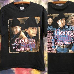 Vintage George Strait 2009 Tour Concert T-Shirt M